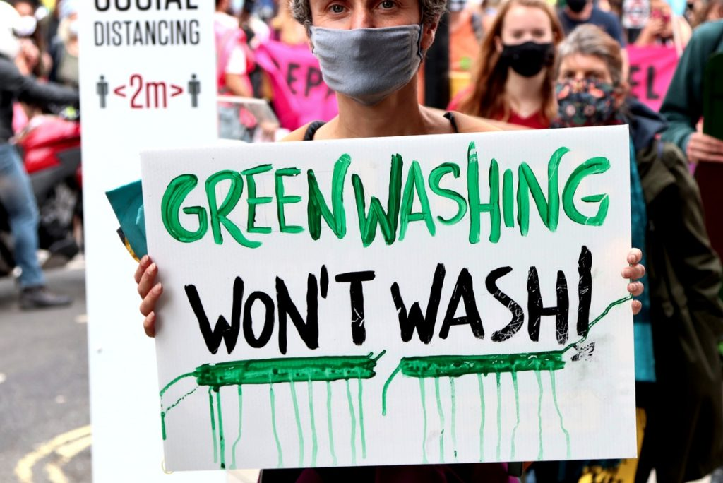 green washing = lavado verde